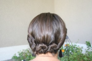 Adult Triple Twist-and-Pin {Back}