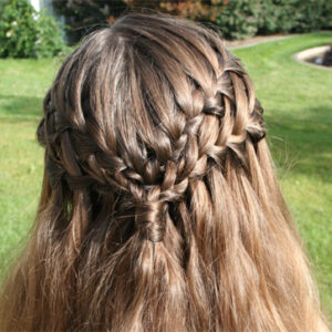Back close-up view of the Double Waterfall Braid {Back Close-up}