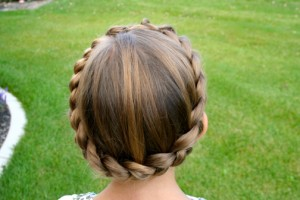 Back top view of the Crown Braid
