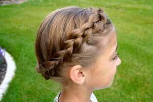 Side view of the Crown Braid