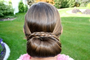 Braid-Wrapped Chignon {Back}