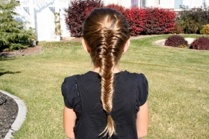 Back view of the Fishtail {Herringbone} French Braid