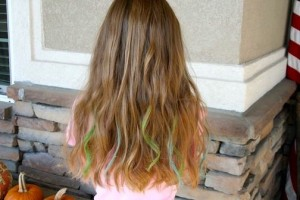 Back view of the No-Dye Hairstyles | Chalk Highlights