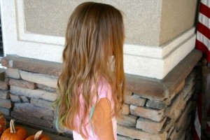 Side view of Chalk Hairstyles | Chalk Highlights