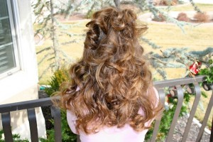 Back view of No-Heat Hairstyles   Headband Curls