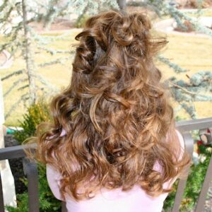 Back view of No-Heat Hairstyles | Headband Curls