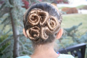 Back view of the Spiral Twisty Bun Hairstyle