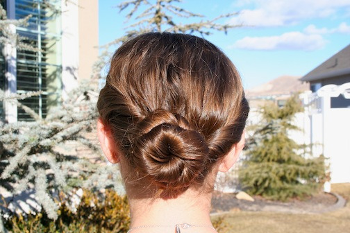 Double Twist-Around Bun | Updo Hairstyles