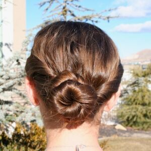 Back view of the Twistback Bun Hairstyles