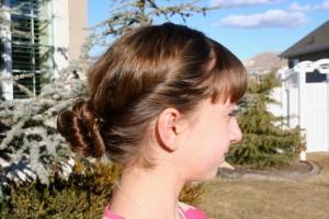 Side view of the Cute Bun Hairstyles