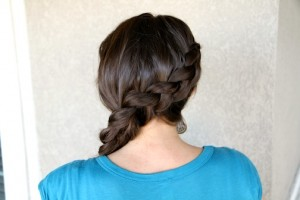 Back view of the Katniss Braid Hairstyle | Hunger Games