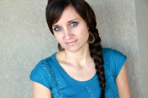 Portrait view of woman modeling the Katniss Braid Hairstyle | Hunger Games