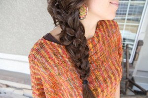 Close-up view of the 5-Strand Messy Braid Hairstyle