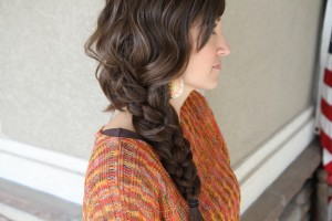 5-Strand Messy Braid Hairstyle
