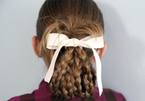 Back view of the Bundled Braids | Cute Hairstyles