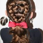 Flip Braided Heart   Valentine's Day Hairstyles