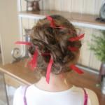 Holiday Hairstyles | Bobby Pin Ribbons