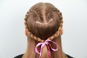 Lace Braid Heart | Valentine's Day Hairstyles