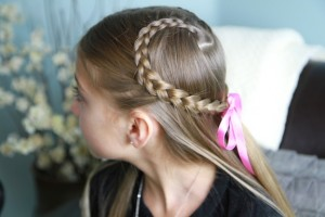 Side view of the Lace Braid Heart | Valentine's Day Hairstyles