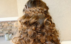 Back view of the Pancake Braid | Long Hairstyles