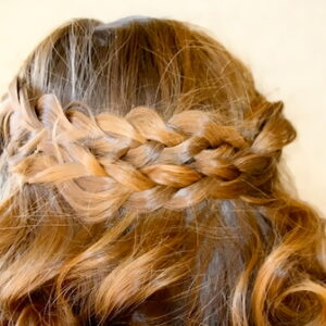 Close-up back view of the Pancake Braid | Bohemian Hairstyles