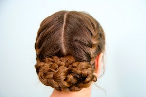 Back view of the Katniss Reaping Braids | Hunger Games Hairstyles