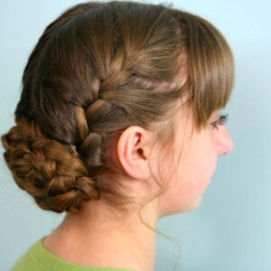 Side view of the Katniss Reaping Braids | Hunger Games Hairstyles