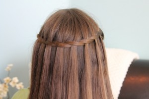 Back view of the Waterfall Twist | A cheat to the Waterfall Braid