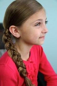 Side view of the Micro-Braid Accented Side Braid | Braided Hairstyles