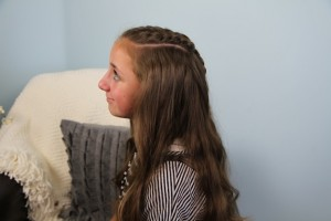 Side view of the Double French Braid and Twist | Braid Hairstyles