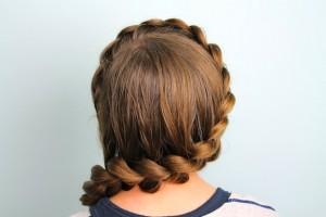 Back view of the Wrap-Around Dutch Pancake Braid | Braid Hairstyles
