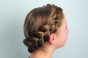 Side view of the Wrap-Around Dutch Pancake Braid | Braid Hairstyles