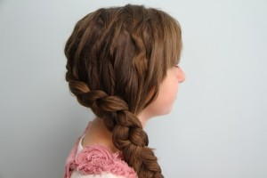 Side view of the Authentic Katniss Braid | Hunger Games Hairstyles