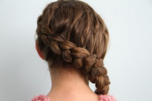 Back view of the Authentic Katniss Braid | Hunger Games Hairstyles