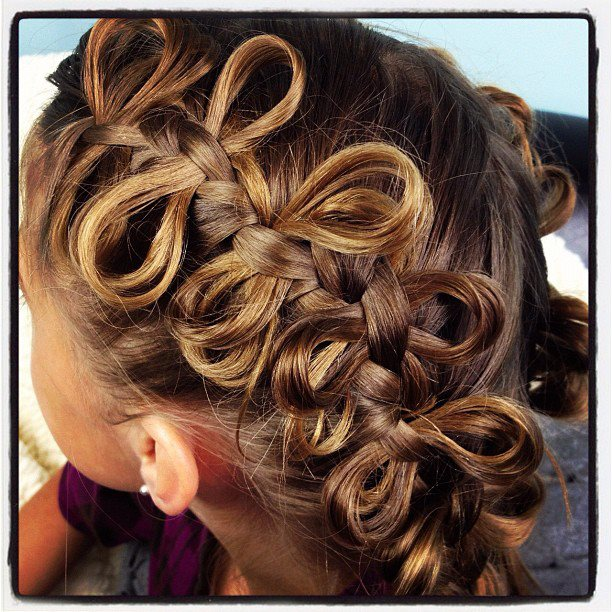 The Bow Braid Cute Braided Hairstyles Cute Girls Hairstyles