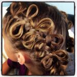 Side view of the Bow Braid Ponytails | Cute Braided Hairstyles