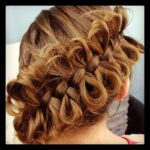 Back view of the Diagonal Bow Braid | Cute Braided Hairstyles