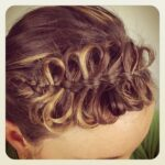 Front view of the Bow Braid | Cute Braided Hairstyles