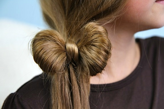 For many of us moms, there are options with the Bow Braid , but ...