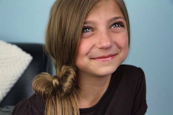The Ponytail Bow | Cute Hairstyles | Cute Girls Hairstyles