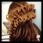 Back view of the Lace Bow Braid | Cute Braided Hairstyles
