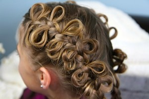 Back side view of The Bow Braid | Cute Girls Hairstyles