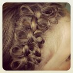Close-up view of the Bow Braid | Cute Braided Hairstyles