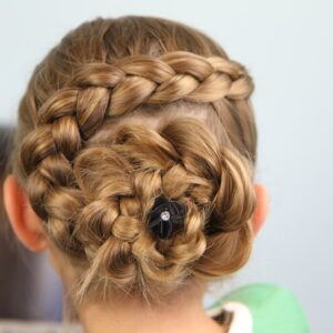 Back view of the Dutch Braided Flower | Updo Hairstyles