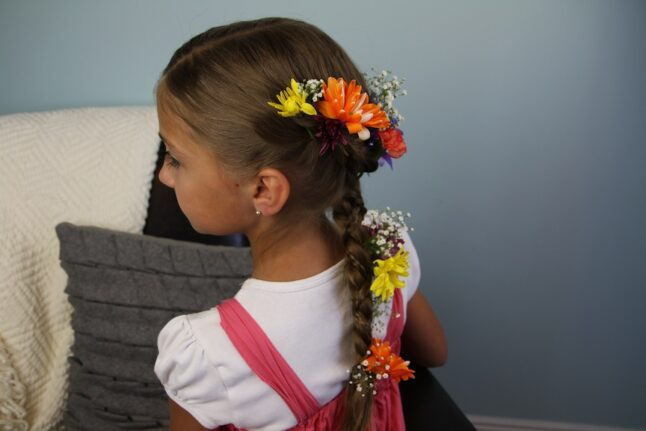 Side view of the Rapunzel Braid Hairstyle | Disney's Tangled