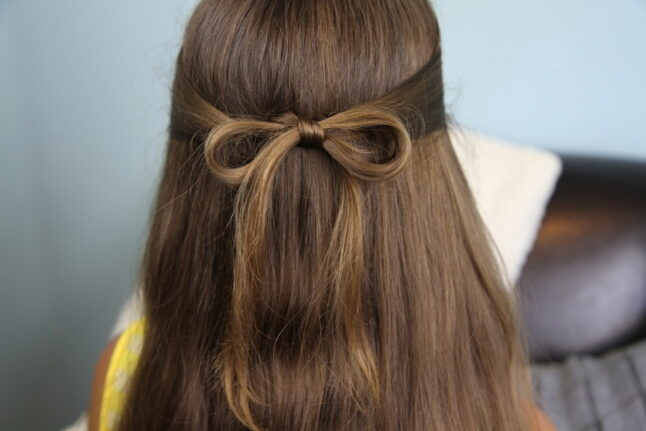Back view ofThe Subtle Bow | Easy Hairstyles