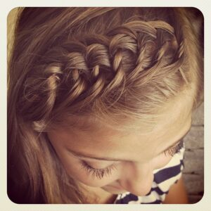Top view of The Knotted Braid Headband | Braided Hairstyles
