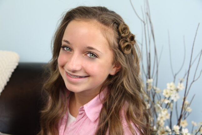 Portrait of a young girl with Pin Curl Accents | Easy Hairstyle Ideas