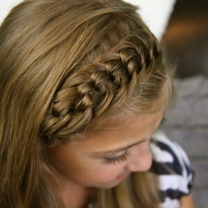Top view of The Knotted Braid Headband | Back-to-School Hairstyles