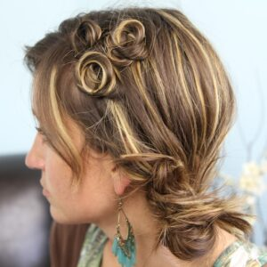 Side view of the Pin Curl Accents | Easy Hairstyle Ideas